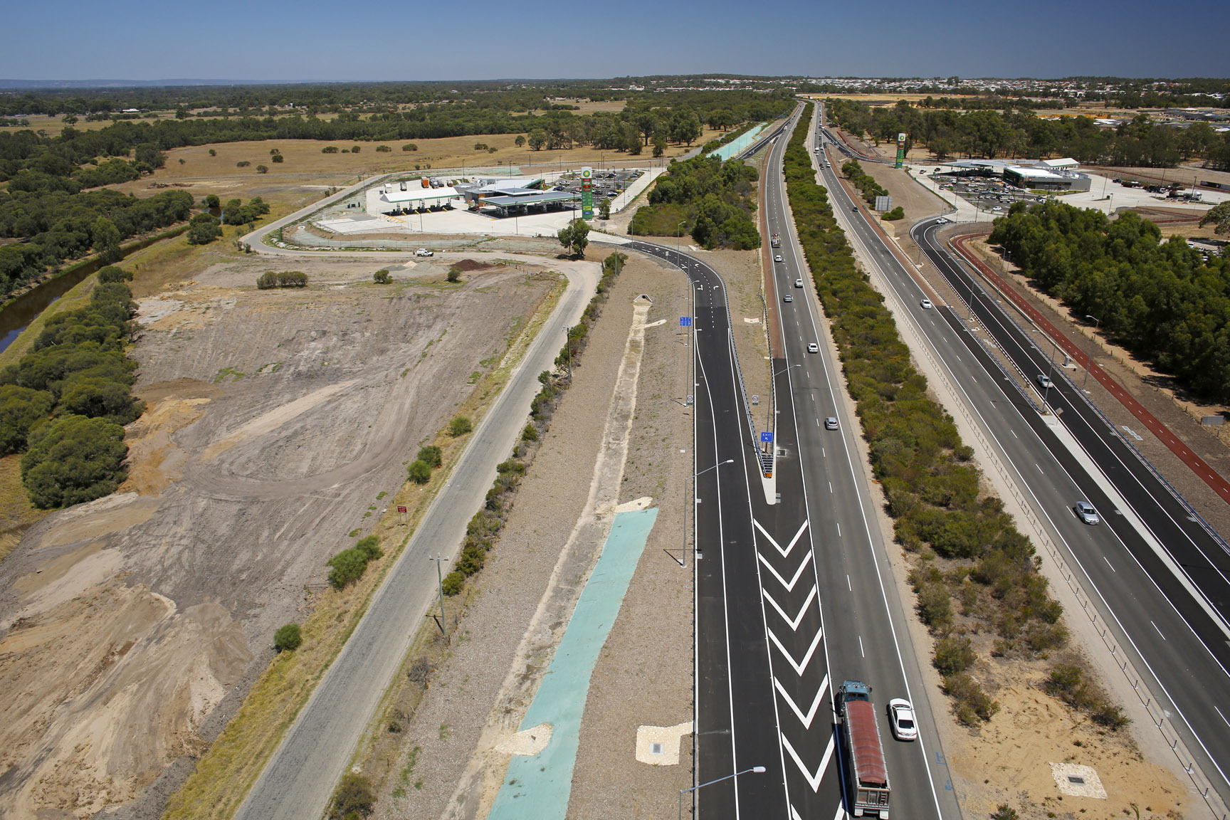 BP Baldivis Freeway Travel Centres North and Southbound Freeway Entry and Exit Ramps