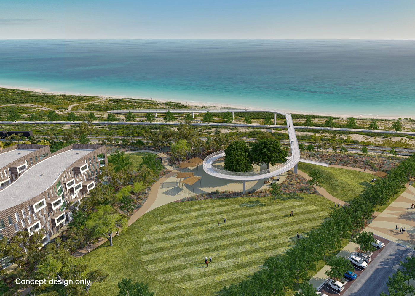 Pedestrian Bridge Design - Cockburn Coast
